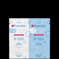 Скраб и очищающая маска для кожи лица «Код чистоты» код 22418