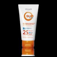 Антивозрастной солнцезащитный лосьон для лица, плеч и области декольте Sun Zone со средней степенью защиты SPF 25 код 31322